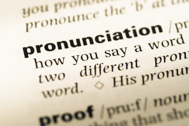Pronunciation word meaning
