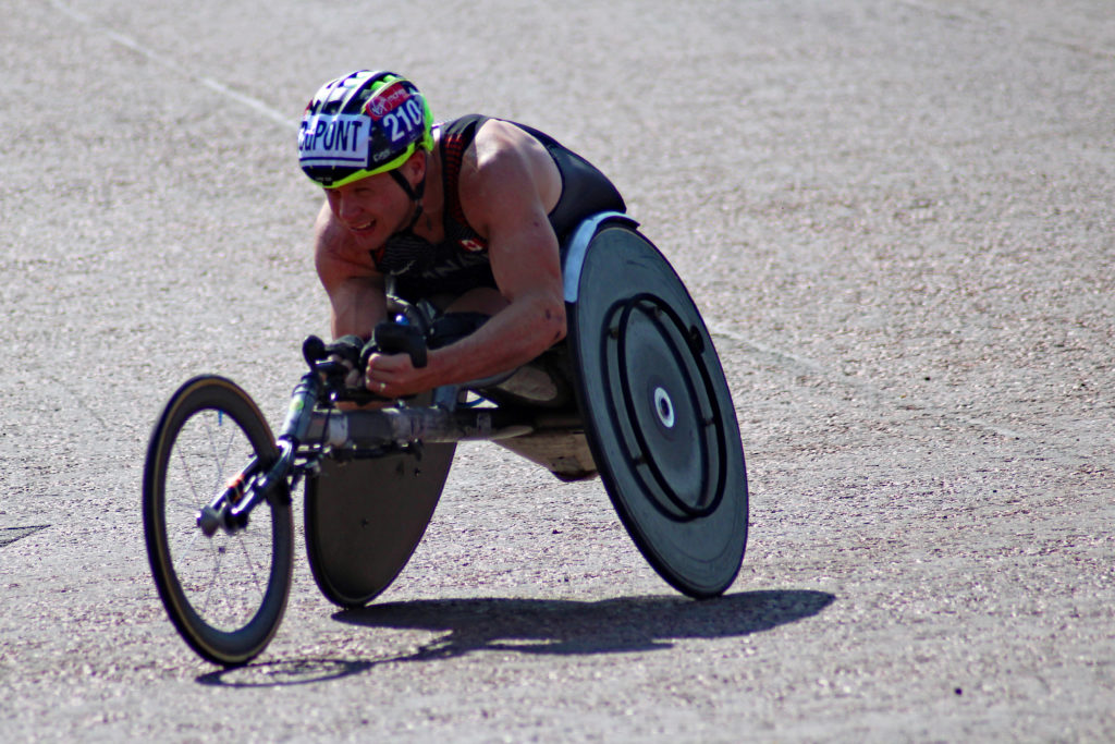 Para-athlete competing